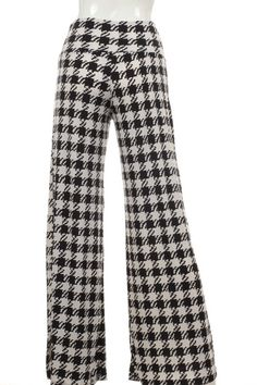 98596e70d02bd Kelly Brett Boutique  Women s Online Clothing Boutique - Plus Size Palazzo  Pants Houndstooth Black