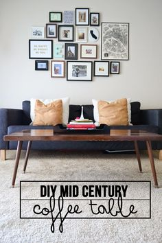 When I moved out of my last apartment, my cheap IKEA coffee table had to go. I had been wanting to DIY a coffee table for awhile, but the timing just wasn& right. I knew if I got rid of the only one I had, I had to build one. Mid Century Interior Design, Mid-century Interior, Ikea Coffee Table, Modern Coffee Tables, Modern Table, Ideas Decoracion Salon, Mid Century Coffee Table, Diy Furniture Projects, Diy Projects