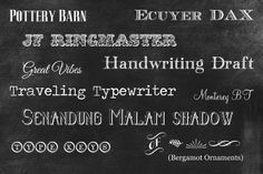10 Great Chalkboard Fonts Plus Tutorial For Making Chalkboard Art on PicMonkey