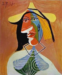 1938 Pablo Picasso (Spanish artist, 1881–1973) Portrait of a Young Girl.