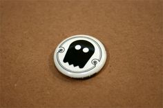 Ghost pin, part of a promotional set.