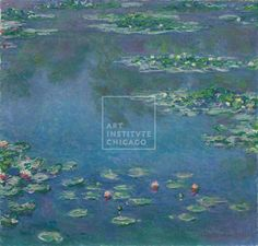 Painting, Impressionism - Claude Monet, French, Water Lilies, 1906, Oil on canvas, Mr. and Mrs. Martin A. Ryerson Collection, The Art Institute of Chicago (Image No. 00000177-01)