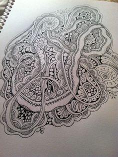 Loopy-loo tangle. Copyright 2013 redaardvark design zentangle zendoodle zentangle art zentangle pattern