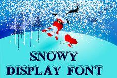 Snowy display font @photoshoplady