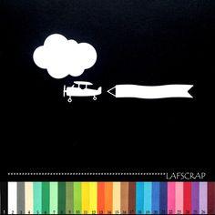 2 lots découpes avion bannière nuage scrapbooking embellissement album scrap die cut déco : Loisirs créatifs, scrapbooking par lafscrap