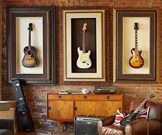 Next house... Mount guitars in huge frames!