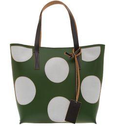 Marni Green Polka Dot Tote Bag $657