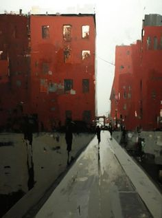 GEOFFREY JOHNSON Gramercy Park Oil on wood panel Hubert Gallery Not Clyfford Still of course but reminiscent of Still's style of reducing images to a minimum of brushstrokes to capture the essence of his subject. Urban Landscape, Landscape Art, Landscape Paintings, Urban Painting, City Art, Schmuck Design, Urban Art, Art Oil, Love Art