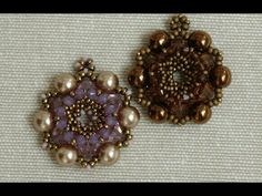 tutorial ciondolo Belle Epoque / Belle Epoque pendant beading tutorial. - YouTube
