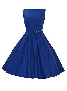 Anni Coco Women's 50's Audrey Hepburn Rockabilly Vintage Dresses Blue Small Anni Coco http://www.amazon.com/dp/B00VE7U9DG/ref=cm_sw_r_pi_dp_vQlnvb0GZMP6W