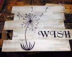 Life is a Balance Wood Sign Dandelion Sign by WoodenChaKnow