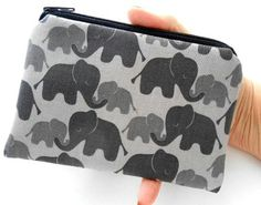 Elephant Love Little ECO Friendly Padded Zipper Pouch Coin Purse NEW by JPATPURSES, $8.00