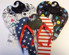 519a0fa83 Athletech Youth Girls Flip Flops Size Small 11 12 Lot Of 3 NWT Summer