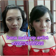 Make up before after