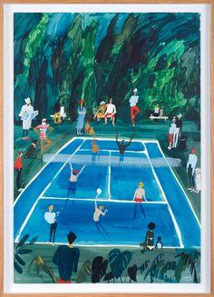 kirsten-sims-spectator-sport-2016-mixed-media-on-board-885-x-635mm-framed  