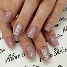 New nails art winter tutorial Ideas in 2019 Winter Nail Art, Winter Nails, Winter Art, Fall Nails, Summer Nails, Nude Nails, Pink Nails, Gel Nails French, New Nail Art