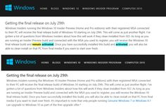 """Microsoft, this is NOT cool. Blog post has been edited to remove """"remain activated"""" @GabeAul http://www.theverge.com/2015/6/20/8818383/microsoft-windows-10-free-for-testers…"""
