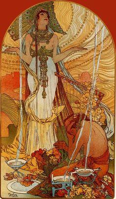 'Cleopatra'. Alphonse Mucha.