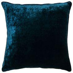 Velvet Dark Blue Throw Pillow @LaylaGrayce