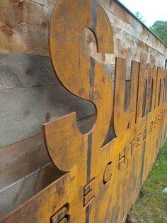The Summit Bechtel Reserve BSA Site - Primary Identity Cut-out Corten Steel Pub Design, Deer Design, Signage Design, Rustic Design, Environmental Graphic Design, Environmental Graphics, Plasma Cnc, Wayfinding Signs, Monument Signs