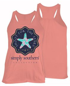 Simply Southern Star Tank Top in Melon