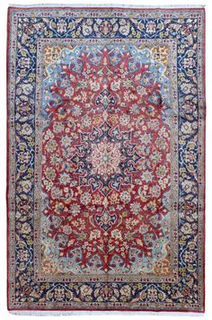 Semi-Antique Persian Isfahan Oriental Rug 7'11X12'2