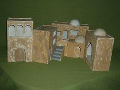 MANUALIDADES Y NAVIDAD: Casas tipo hebreo para belenes Decor Crafts, Triangle, Christmas Decorations, Miniatures, Xmas, Painting, Portal, Motor, Google