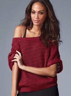 Crochet Off-the-shoulder Sweater - Victoria's Secret
