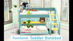 4 Bunk Beds, Toddler Bunk Beds, Kid Beds, Sims 4 Mods, Sims 4 Game Mods, Sims Baby, Sims 4 Toddler, Sims 4 Cc Furniture, Toddler Furniture