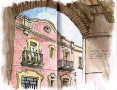 Urban Sketchers Spain. El mundo dibujo a dibujo.: Calle l'Alou, Sant Boi