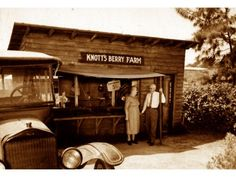 Knotts Berry Farm....With There Model-T!   Walter & Cordelia Knott