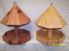 Choice Of Solid Cedar Or Solid Oak Octagon Bird Feeder