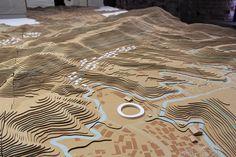 SANAA - miyato-jima reconstruction project, topographic site model