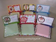 Since posting these desk calendars, I've had several requests for instructions.  Because I was inspired by Rose's  project, I decided to a...