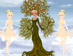 Dryad and Sprites by M-Mannering on DeviantArt Hyacinth Flowers, Lauren Kate, Doll Divine, Cute Art Styles, Dress Up Dolls, Believe In Magic, Up Game, Snow Queen, Mythical Creatures