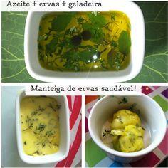 Azeite de ervas: opção para substituir a manteiga e a margarina. azeite de oliva EXTRA-VIRGEM (vidro escuro, acidez 0,3%)