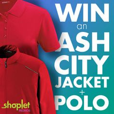 FREE GIVEAWAY!!!  Last chance to enter to WIN this month's GIVEAWAY! Don't miss out! http://blog.shoplet.com/giveaways/win-an-ash-city-jacket-polo/