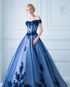 "1,218 Likes, 4 Comments - Praise Wedding (@praisewedding) on Instagram: ""This statement-making royal blue gown from Digio Bridal featuring ultra-chic lace detailing is both…"""