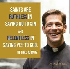 Fr Mike Schmitz Catholic Prayers Daily, Catholic Quotes, Religious Quotes, Christian Life, Christian Quotes, Father Mike Schmitz, Promise Keepers, Trust In Jesus, Uplifting Messages