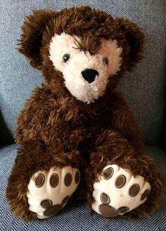 "Disney World Plush Pre Duffy 17"" Dark Chocolate Brown Hidden Mickey Disney Bear"