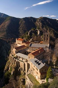 Hundreds of years of religion, history and culture have left their mark. Abbaye Saint-Martin du Canigou.