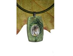 Green pendant  The King Thranduil elven jewellery by JankaLart