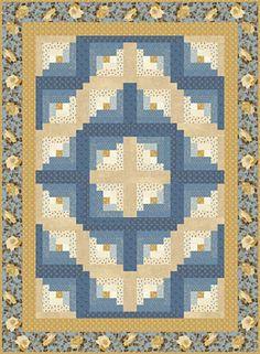 Free Quilt Pattern: Barn Raising Log Cabin