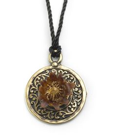 Flower Eternity Brass Pendant