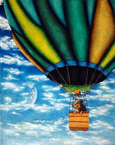 Hot Air Balloon - is that a doggie in the basket? cute!