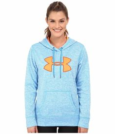 NWT Women UNDER ARMOUR Storm Fleece Big Logo Hoodie Sweatshirt Pullover Blue M #UnderArmour #Hoodie