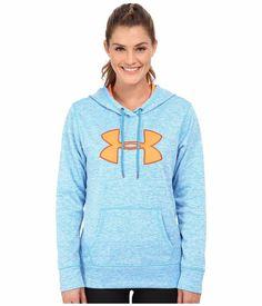 NWT Women UNDER ARMOUR Storm Fleece Big Logo Hoodie Sweatshirt Pullover Blue M #UnderArmour #Hoodie