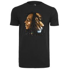 Bob Marley Lion Face T-Shirt #reggae #rasta #fashion https://www.rudestylz.de/bob-marley-lion-face-tee