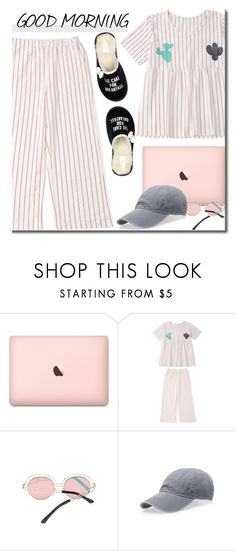 """""""Say It Loud"""" by justkejti ❤ liked on Polyvore featuring Kate Spade, morning, strips and zaful"""