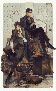 眠狼 (@RDJlock) / Twitter Art And Illustration, Aesthetic Art, Aesthetic Anime, Character Inspiration, Character Art, Drawn Art, Handsome Anime Guys, Anime Kunst, Anime Poses